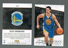 KLAY THOMPSON #2 Warriors Knight School 2013/14 Panini NBA - Quantity Alv.