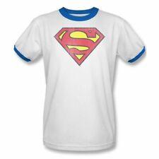 Superman Shirt Vintage Stance Adult Ringer T