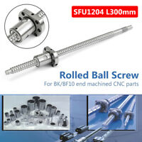 SFU1204 L300mm Ball Screw + Single Ball Nut End Machined Ball-Bearing For CNC c