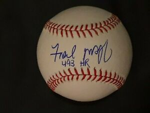 """FRED MCGRIFF ADDED """"493 HR"""" AUTOGRAPHED SIGNED ML BASEBALL PSA DNA COA MINT"""