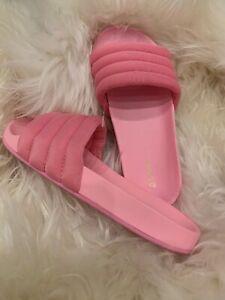 Aldo Women's 7 Slip On Slides Fuschia PInk Edorella Flat Summer Slippers $35 New