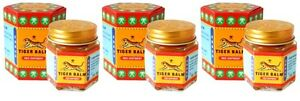 Tiger Balm Red Ointment 3x 21ml Muscle Ache Pain Relief Massage Herbal Free Ship
