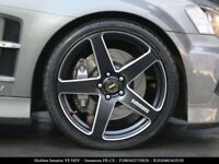 "4X GENUINE SIMMONS 20"" FRCs VF VE STAGGERED MACHINE LIP WHEELS & NEW TYRES"