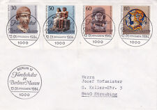 Berlino Ovest 1984 oggetti d'arte a Berlino musei SET FDC in buonissima condizione