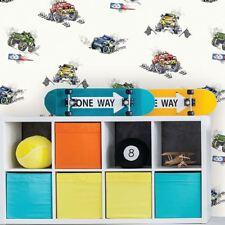 Holden Monster Trucks Pattern Childrens Wallpaper Cars Cartoon Motif 12510