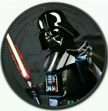 2019 NIUE STAR WARS DARTH VADER Colorized Ruthenium 1oz Silver Coin - Box & COA