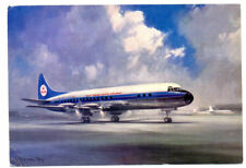 1960s KLM ISSUED Airlines Lockheed  Prop-Jet Electra Postcard