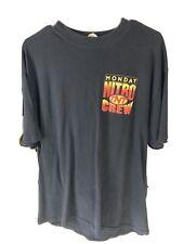 vintage wcw monday night Nitro wrestling t-shirt Crew Member Rare Xl