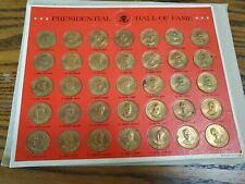 New Listing1968 The Franklin Mint Presidential Hall of Fame Brass Presidential 35 Coins