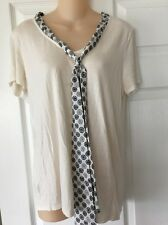 jason wu target top women medium short sleeve cream color with tie scarf  U20