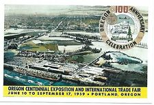 Portland, OR Oregon Centennial Exposition & International trade fair 1959 4X6 in