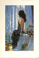 "ROBERT KING ""Summer in Paris"" nude woman SIGNED! SIZE:51cm x 35cm SEE OUR SHOP"