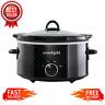 Crock-Pot 4 Quart Manual Slow Cooker, Black, Dishwasher Safe Stoneware and Lid