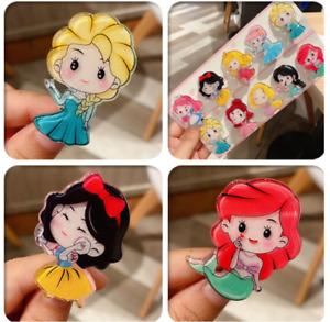 9PCS Disney Princess Frozen Elsa Girls Kids Hair Clips  Alligator Barrette Snap