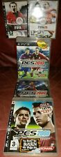 PlayStation 3 PS3 Videogiochi: FIFA'08,'09, PES 2008,2009,2010 Bundle, GRATIS P&P
