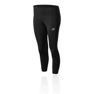 New Balance Womens Accelerate Capri Pants Bottoms Tights Trousers Black Sports