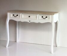 French Shabby Chic White Side Hall Table Sideboard Desk Furniture