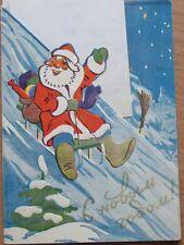 Russian Soviet Post Card Happy New Year XM NY Santa Tree Ded Moroz Pig Bear Cat
