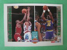 1992-93 NBA Hoops, League Leaders Scoring Michael Jordan Karl Malone #320