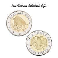 WR Seltenes Europa Bison Gold / Silber Gedenkmünze schützen das Tier Geschenk