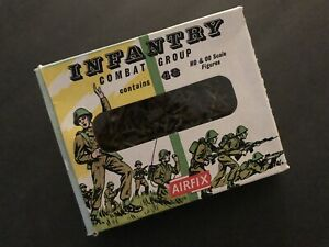 Vintage AIRFIX WWII Infantry Combat Group: 48 HO & OO scale figures. EXCELLENT!