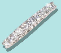 1 ct tw Micro Pave Eternity Ring Top Russian CZ Moissanite Simulant .925 Sz 9