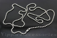 24,27,30,36,40 Inch Military Spec Stainless Steel Army Dog Tag 2.4mm Ball Chain