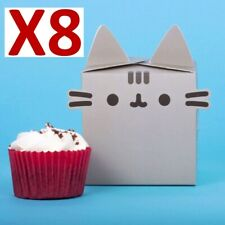 PACK OF 8 PUSHEEN CUPCAKE BOXES  / BAKING BIRTHDAY PARTY BOX *FAST UK DISPATCH*