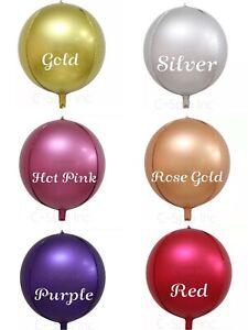 "10"" 18"" 22"" 32"" 4D Round Sphere Metallic Matte Foil Balloon Mylar Balloons Party"