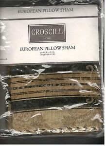 Croscill Winslow Multi Euro Sham Browns Beige Tan New 1st Quality