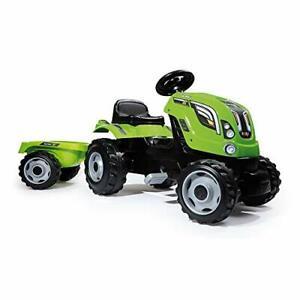 Smoby - Tracteur Farmer XL + Remorque - Tracteur à Pédales Enfant - Siège Ajusta