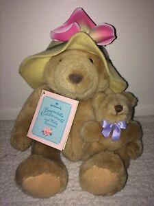Hallmark Bearnadette Cuddlesworth & Baby Fuzzmore Plush Stuffed Toy Bear Set NWT