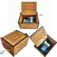 Game of Thrones-Engraved Wooden Music Box interesting Kid Toys Xmas Gifts