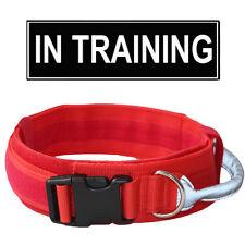 Non Pull Training Police Dog Collar Heavy Duty Reflective Nylon Dog Collar