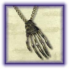 Halskette Kette Hand Knochen Skelett Gothic Vintage Neu
