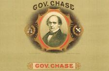 Gov Chase  original inner  cigar  box label