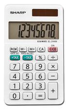 Sharp EL-244WB Professional Pocket Calculator with 8-Digit LCD Display, Small