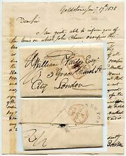 GB 1838 LETTER NEWPORT SALOP UNDATED CIRCLE..GOLDSTONE to LONDON PAID CANCELLED