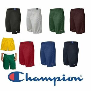 Champion Men's Long Mesh Short with Pockets 9 Inch Athletic Gym Shorts S162