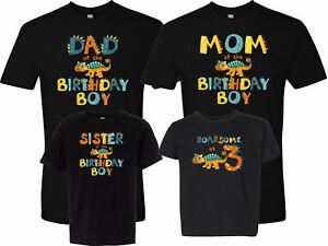 Roarsome at 3 Dinosaur T-Shirt 3rd Birthday Shirt Family Birthday Tshirts