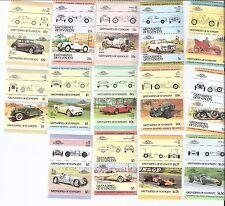 St. Vincent Grenadines 1984 Cars Se-Tenant Pairs Complete Set MNH (SC# 441-454)