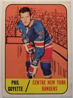 1967-68 TOPPS #25 PHIL GOYETTE NEW YORK RANGERS