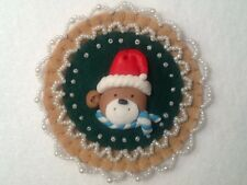(46) Red and green decorations, ornaments, christmas decorations, teddy bear