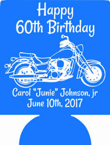 Motorcycle 60th Birthday can coolers SP2251