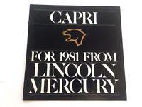 1981 Mercury Capri 12-page Original Sales Brochure Catalog -  Black Magic Deluxe
