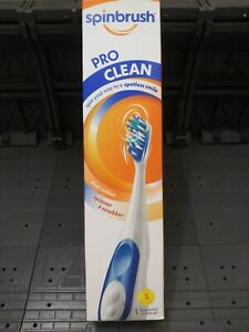 Spinbrush Pro Clean Battery Toothbrush, soft Bristles Personal Oral Care (blue)