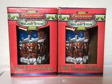 2003 Budweiser Clydesdales Old Towne Holiday Steins w/Boxes & COA's  (Lot Of 2)