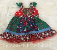 Matilda Jane Doll Clothes Cozy Town All Dressed Up Holly Days Knot Dress 18""