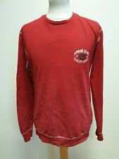 L911 MENS ARMANI JEANS RED LONG SLEEVE CREW NECK SPORTS CASUAL TOP UK M EU 50-54