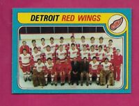 1979-80 TOPPS # 249 WINGS UNMARKED TEAM CHECKLIST NRMT-MT CARD (INV# A5499)